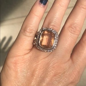 Jewelry - 5 🌟Fave! Morganite 925 Silver Albion Cable Ring